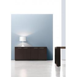 Composition armoires mi-haute avec façade, finition Eucalyptus