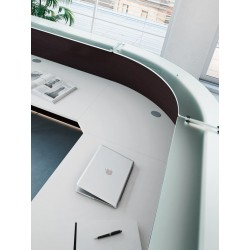 Banque d'accueil So Omny, structure en finition Eucalyptus (Composition #6)