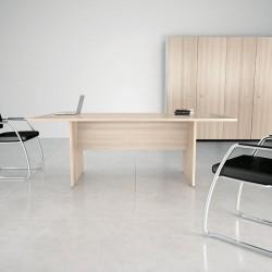 Table de réunion So Office (Structure et plateau en finition Acacia)