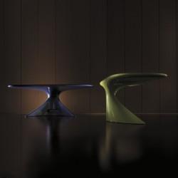 Bureau design So Enterprise, finitions Inspiration Violette et Vert Frais laquée