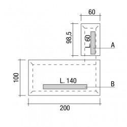 Emplacement des bacs à câbles A et B