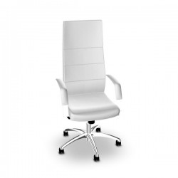 Fauteuil de direction Direct Sit finition simili blanc