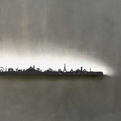 Détail de skyline rétro-éclairé