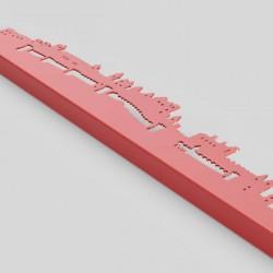 Skyline en finition rouge (détail)