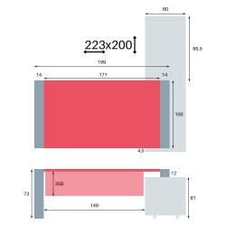 Cotes du So Pure sur crédence en 223x200 cm