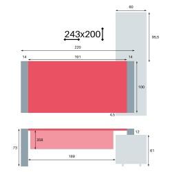 Cotes du So Pure sur crédence en 243x200 cm