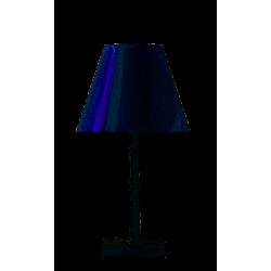 Lampe de bureau Dina, pied Blanc mat et diffuseur blanc