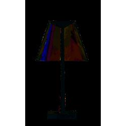 Lampe de bureau Dina, pied Blanc mat et diffuseur transparent