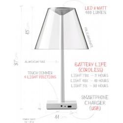 Lampe de bureau design Dina. Croquis