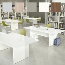 Table de réunion So Office (Structure et plateau : blanc)