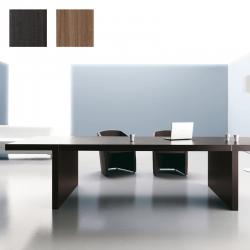 Table de réunion So Clear en finition Eucalyptus, plateau et structure