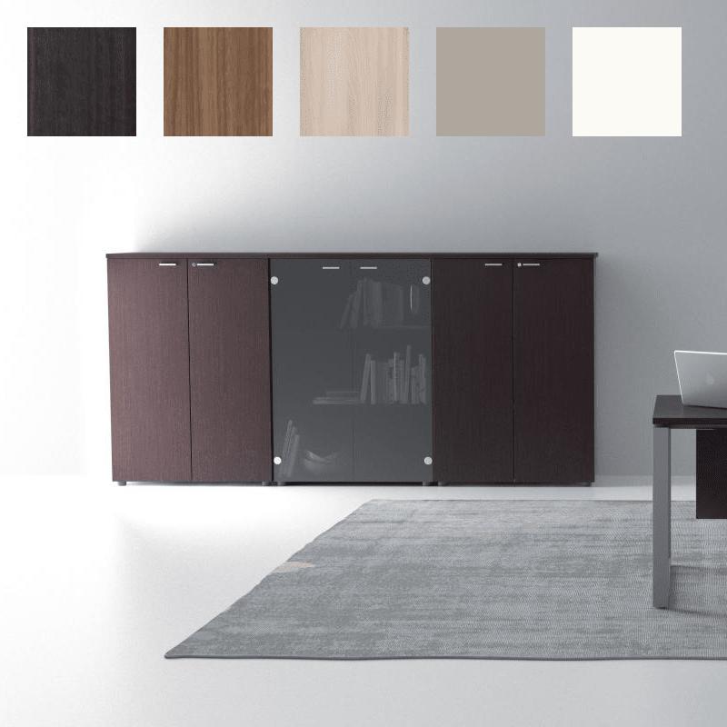 Ensemble d'armoires de rangement 118cm, finition Eucalyptus