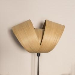 Lampe de bureau en bois Emilie, abat-jour végétal