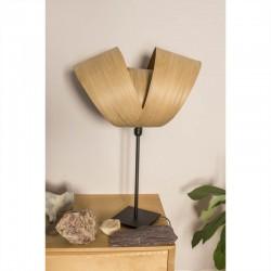 Lampe à poser Emilie, abat-jour en bois de châtaignier