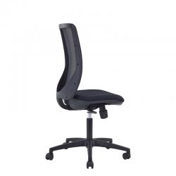 Fauteuil de bureau Equalizzer Sit, résille noire et tissu M651